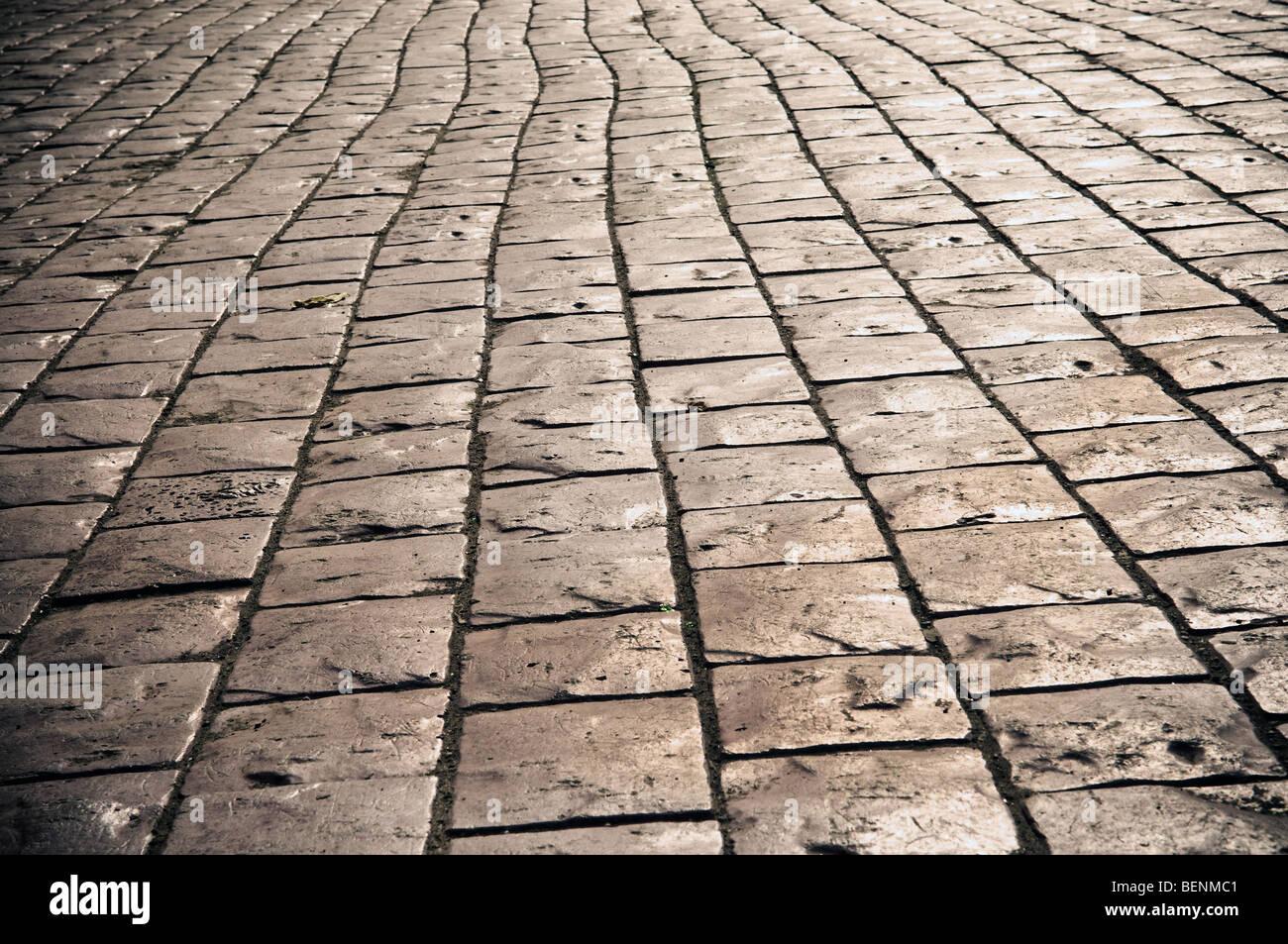 Les galets dans la rue - peut être utilisé comme arrière-plan Photo Stock