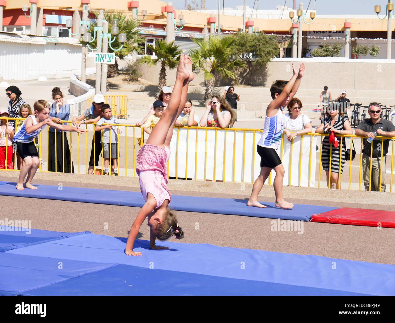 Israël, les Maccabiades, Juillet 2009 Photo Stock
