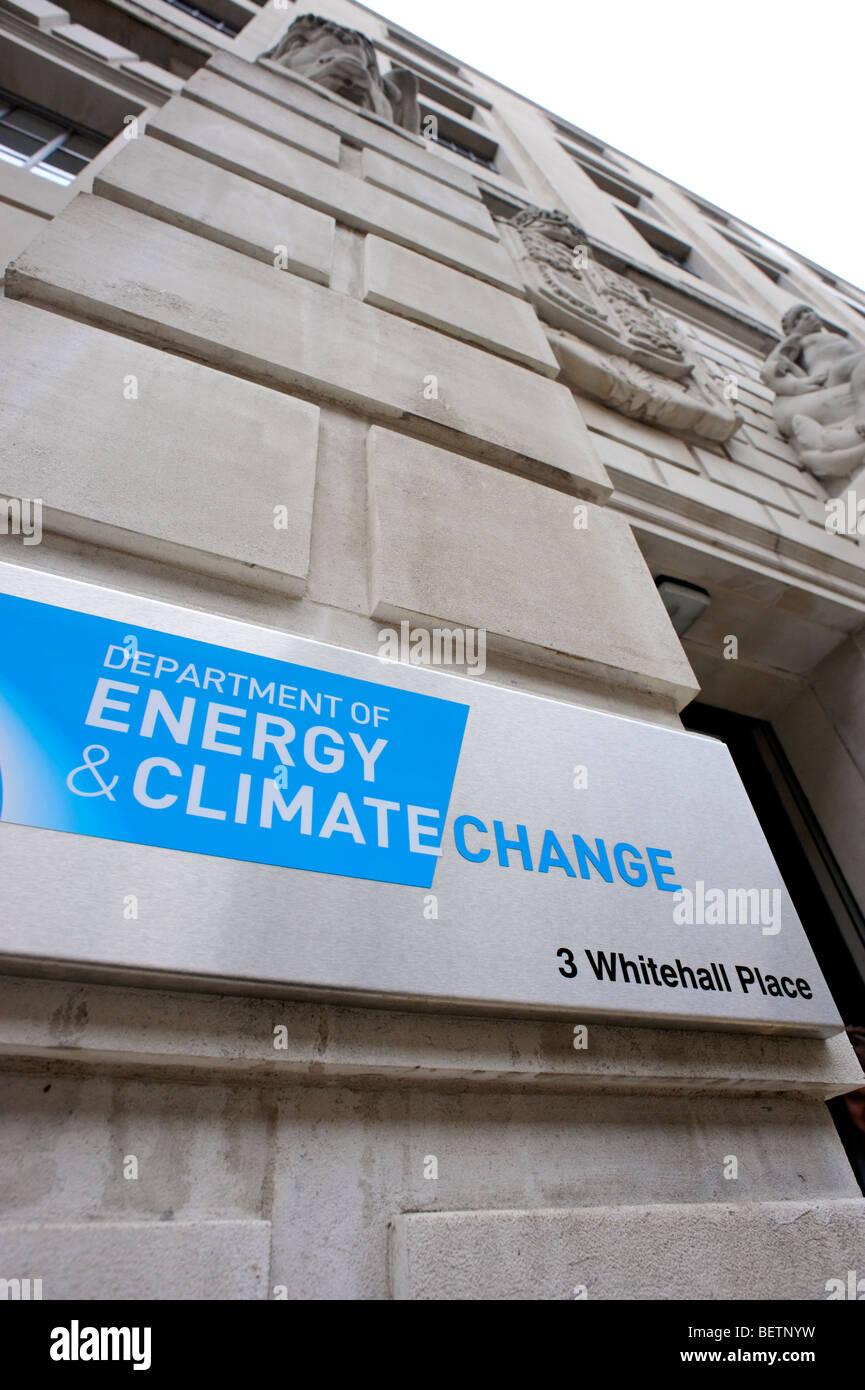 Ministère de l'énergie et le changement climatique. Whitehall. Londres. La Grande-Bretagne. UK Photo Stock
