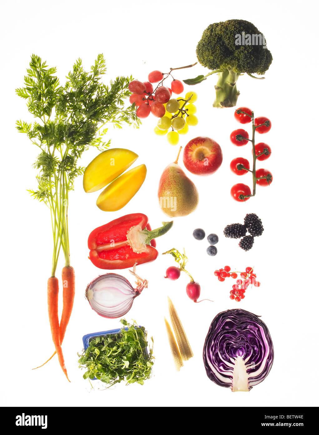Ingrédients de la salade, d'ajouter de la couleur à une salade. Photo Stock