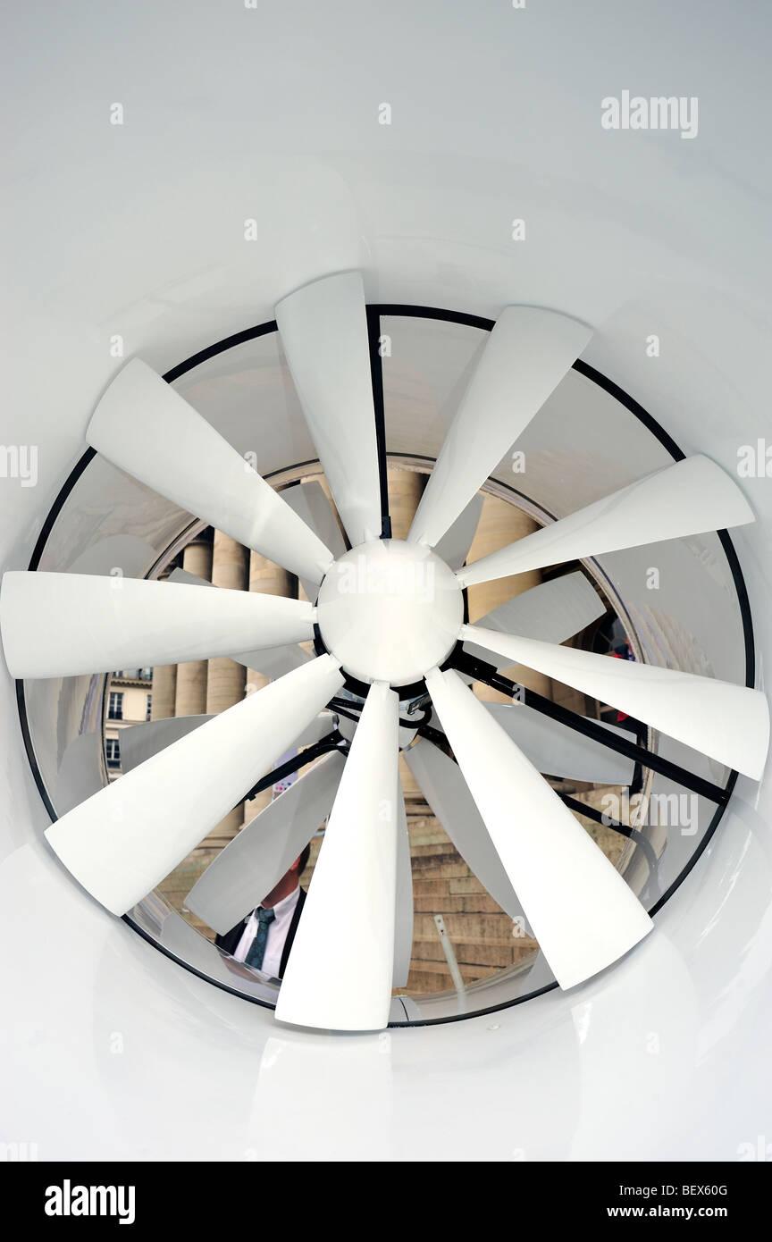 Paris, France, nouvelles technologies, Close up, éoliens 'Éolienne', 'Extérieur' Elena Energie, grand modèle Banque D'Images