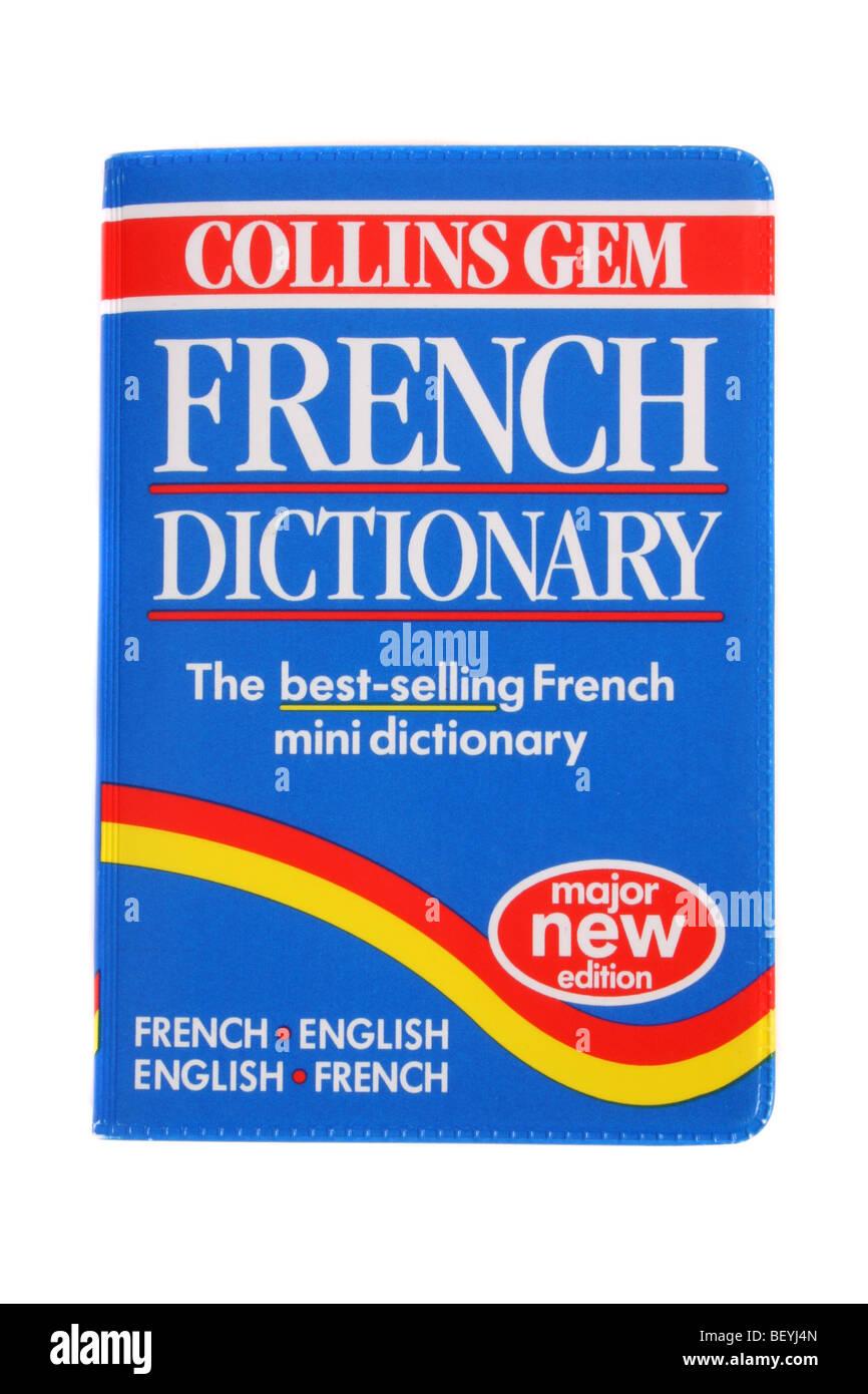 Une gemme Collins Dictionnaire Français - Anglais. Photo Stock