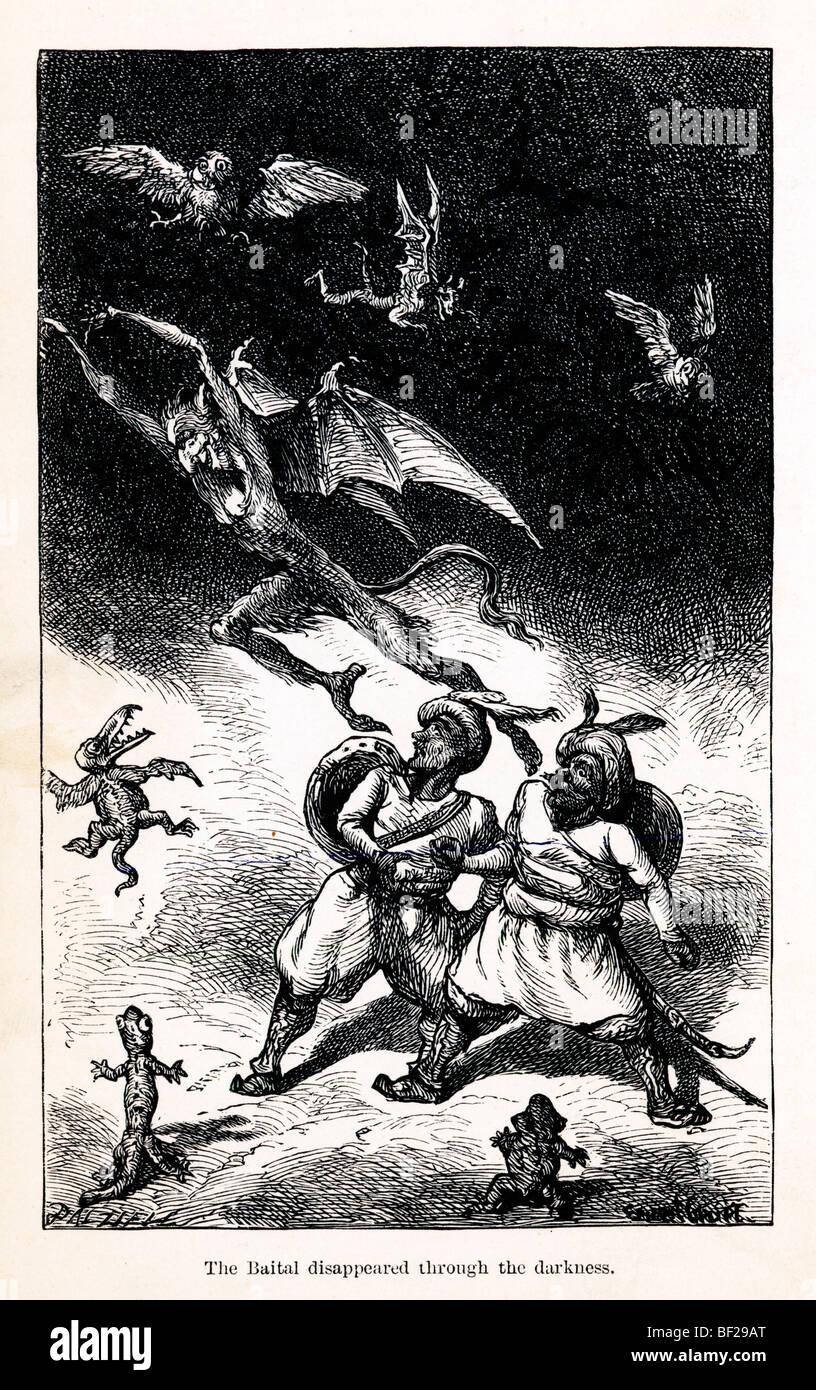 L'Baital disparu, de Vikram et le Vampire, 1870, ou des Contes de l'Hindu Devilry, par Sir Richard Burton Photo Stock