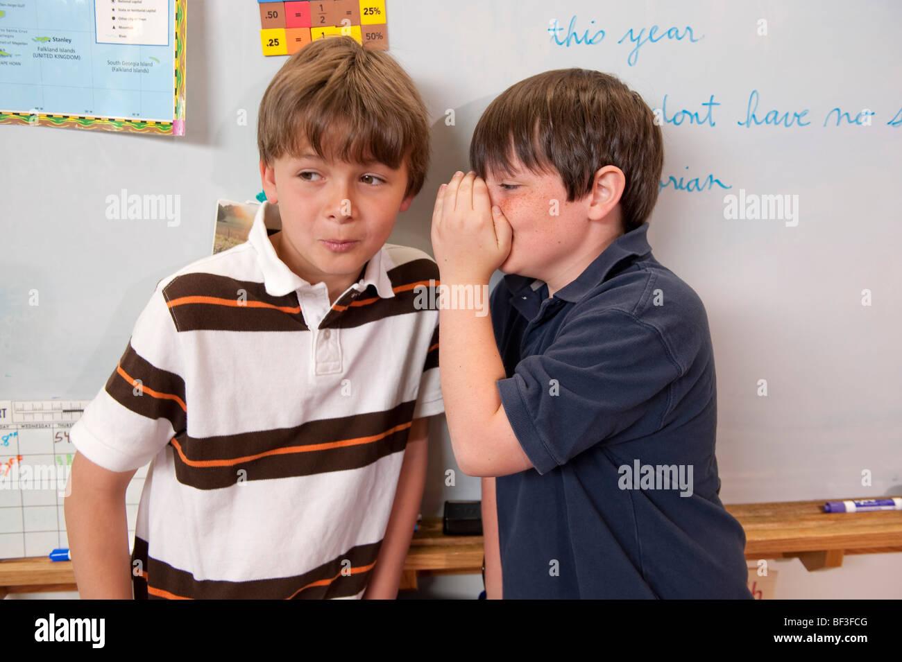 Les amis de l'école élémentaire Photo Stock