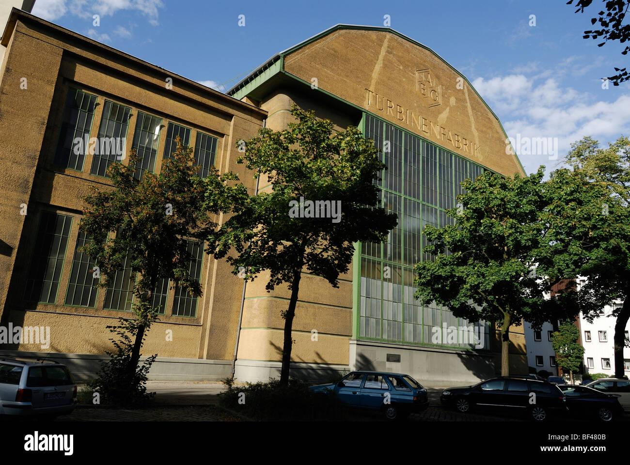 Berlin. L'Allemagne. L'usine de turbine AEG par Peter Behrens. Photo Stock