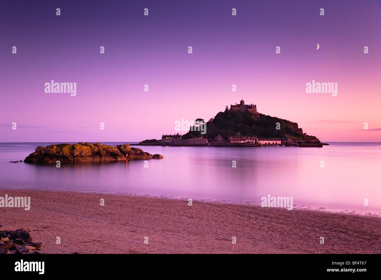 St Michael's Mount au coucher du soleil ; Marazion, Cornwall Photo Stock