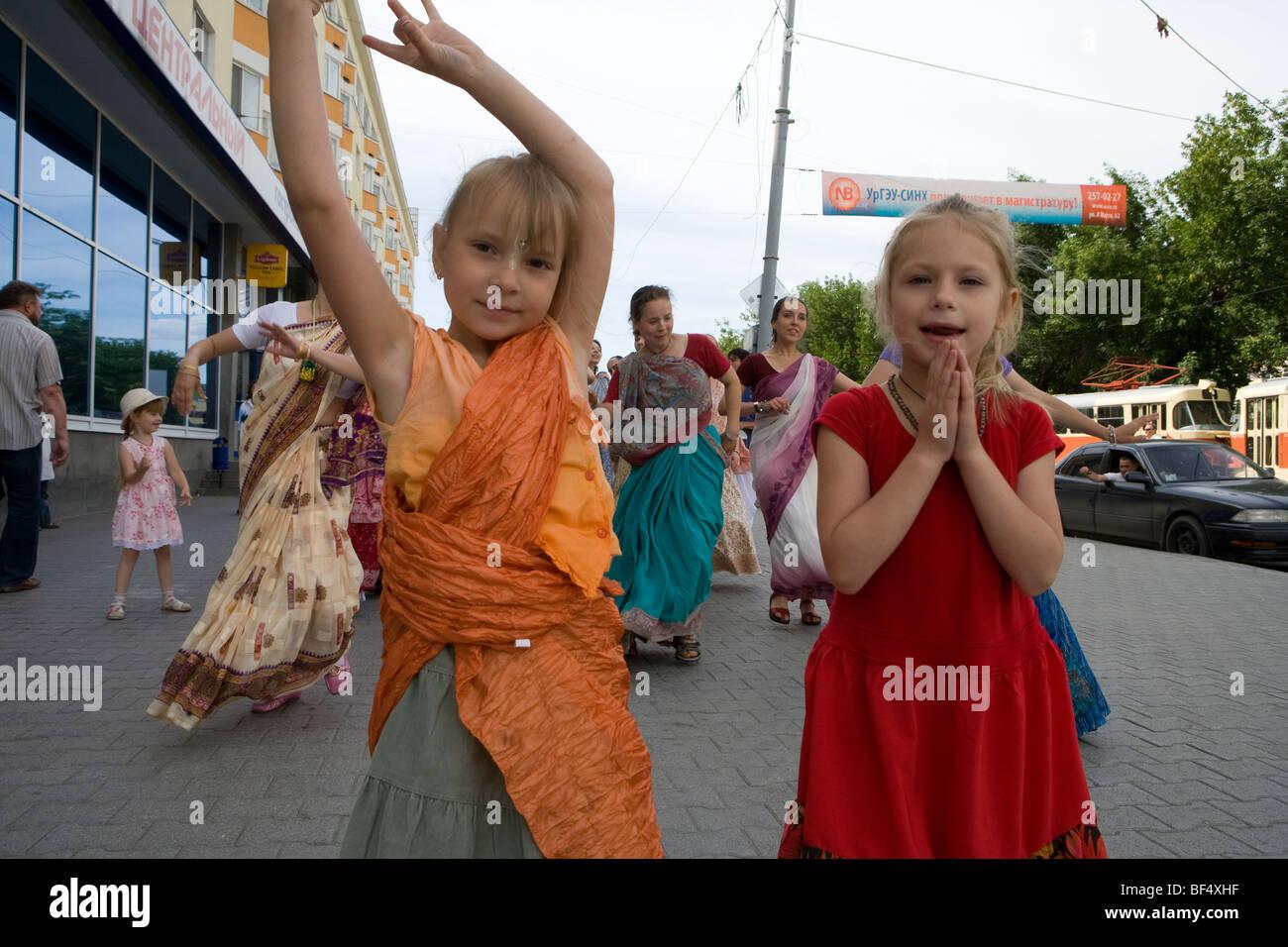 Dans ekaterinberg Hare Krishna russie Banque D'Images