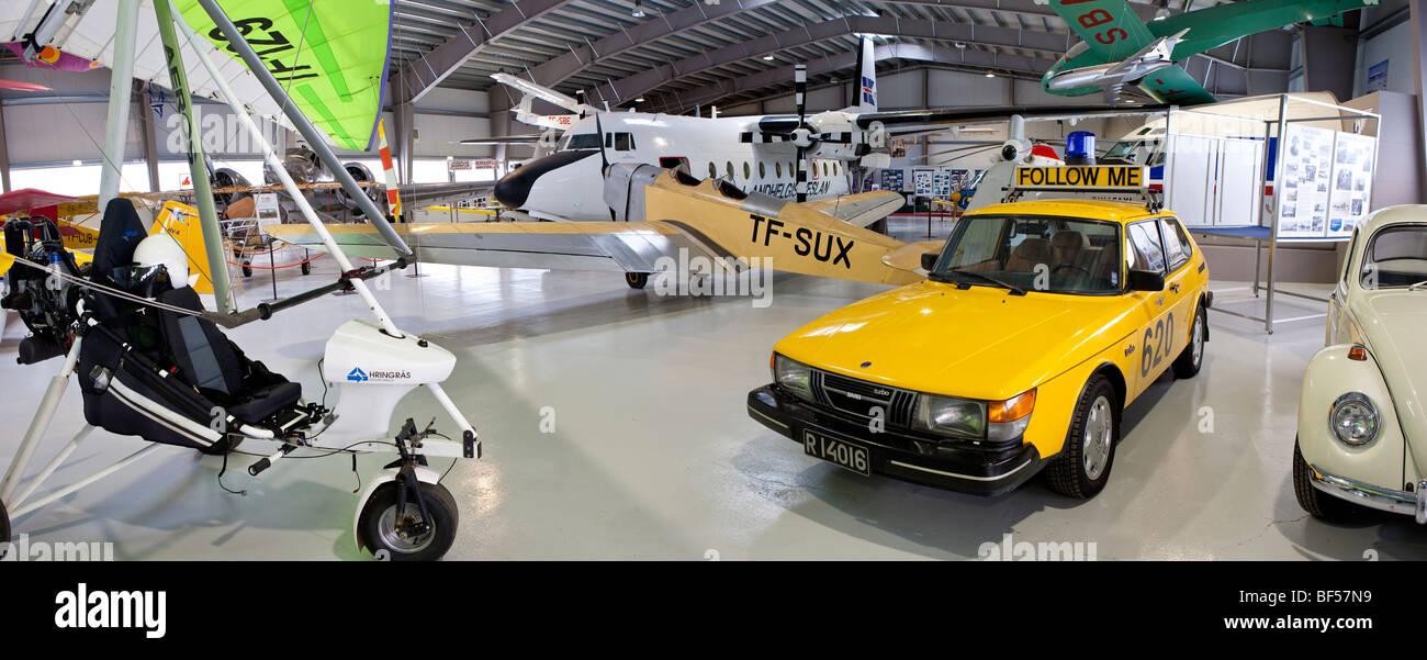 Le Musée de l'Aviation à Akureyri, Islande Photo Stock