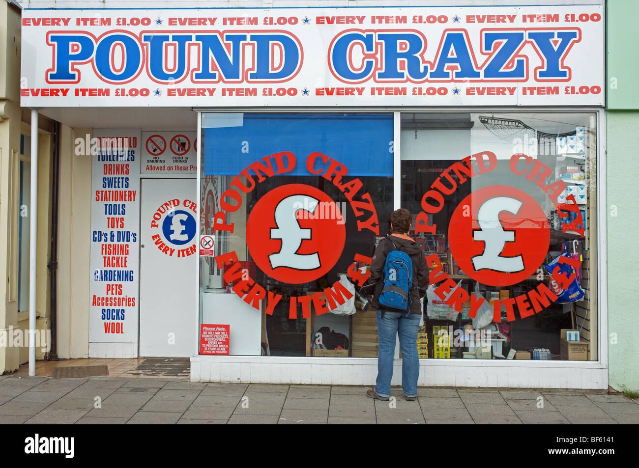Livre Crazy shop Photo Stock