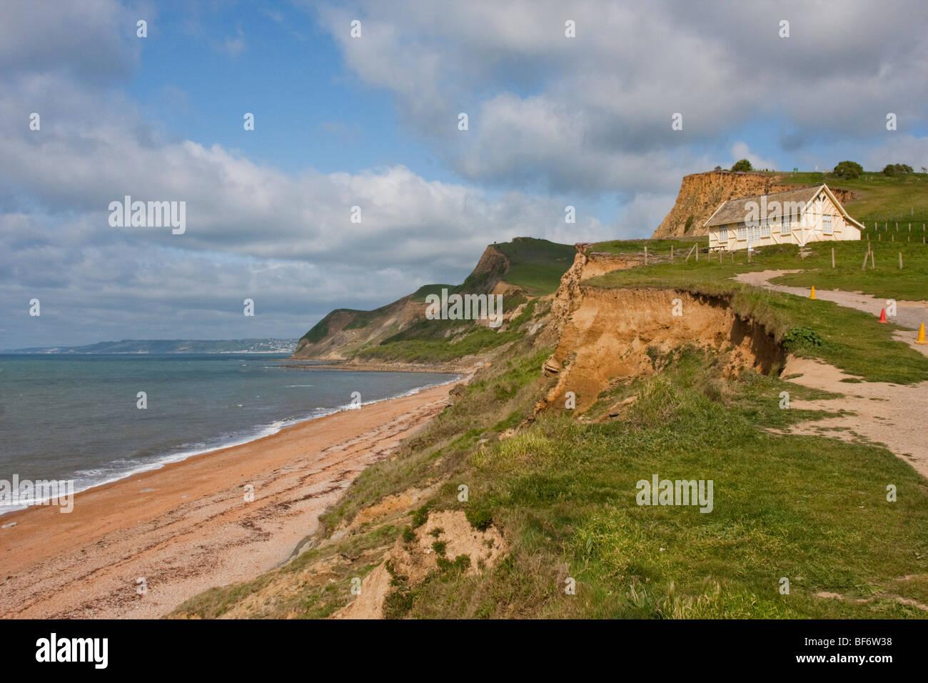 Cote Sud Angleterre chemin de la côte sud-ouest, près de l'eype dans le dorset, en