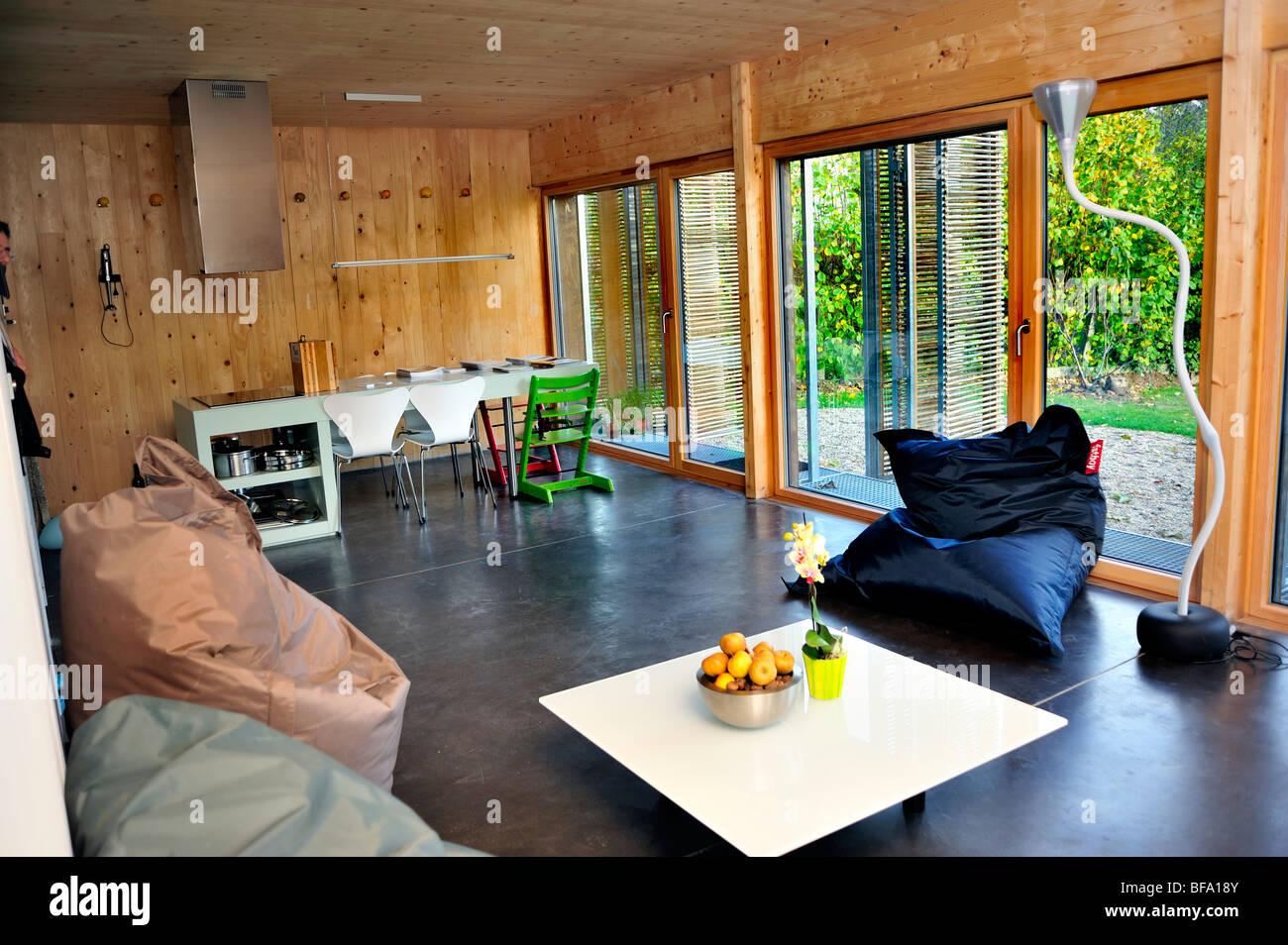 Paris, France, maison verte, zéro consommation d'énergie, la Maison Passive ''Maison'' maison passive des bâtiments, Banque D'Images