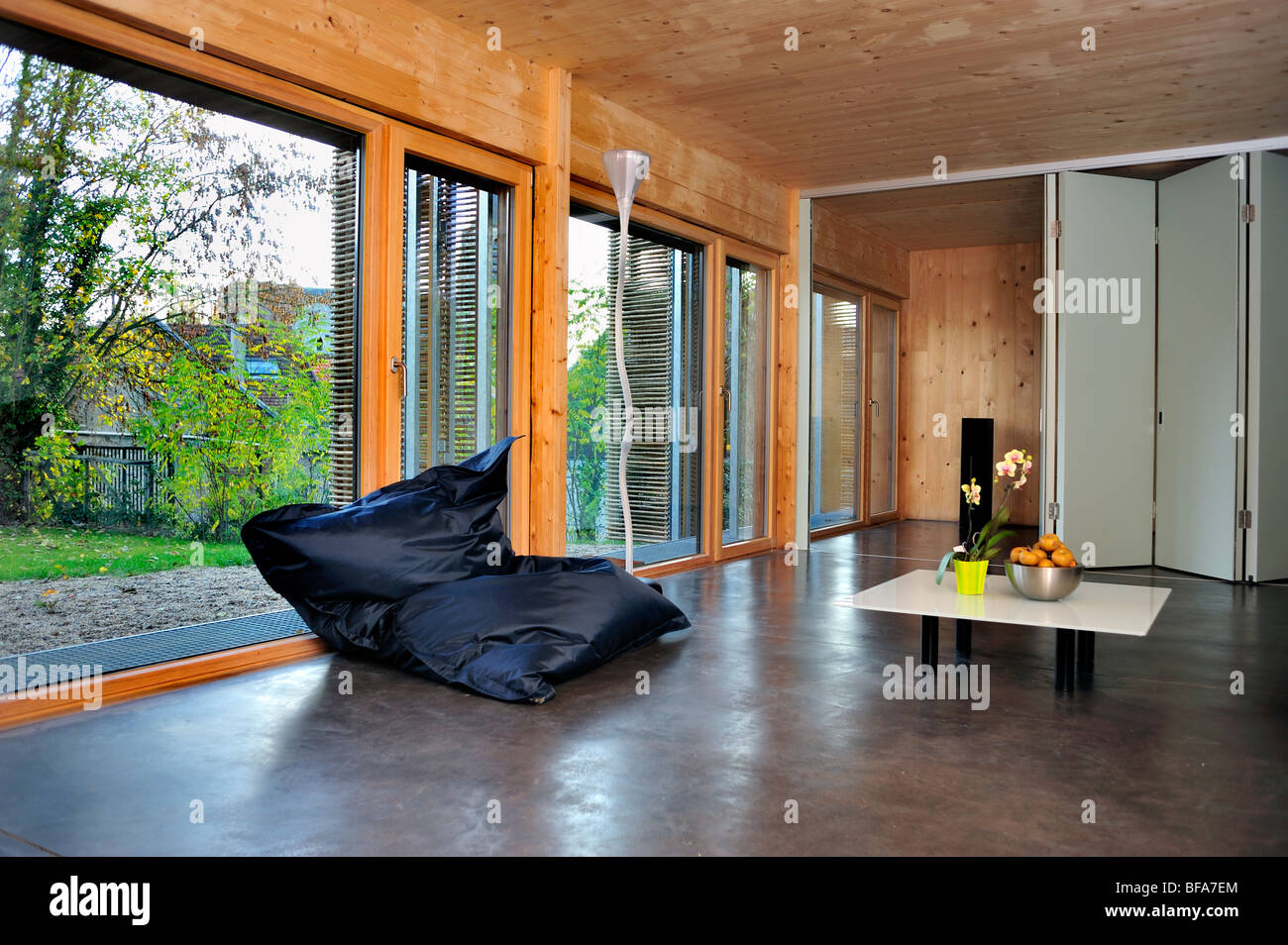 Paris, France, Maison verte durable, consommation d'énergie nulle, Maison passive 'Maison passive', maison écologique Banque D'Images