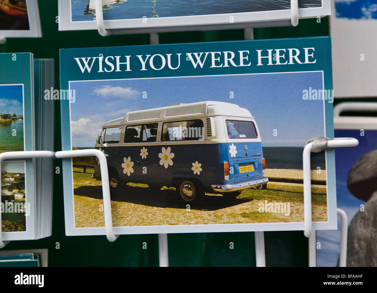 Wish You Were Here post card Photo Stock