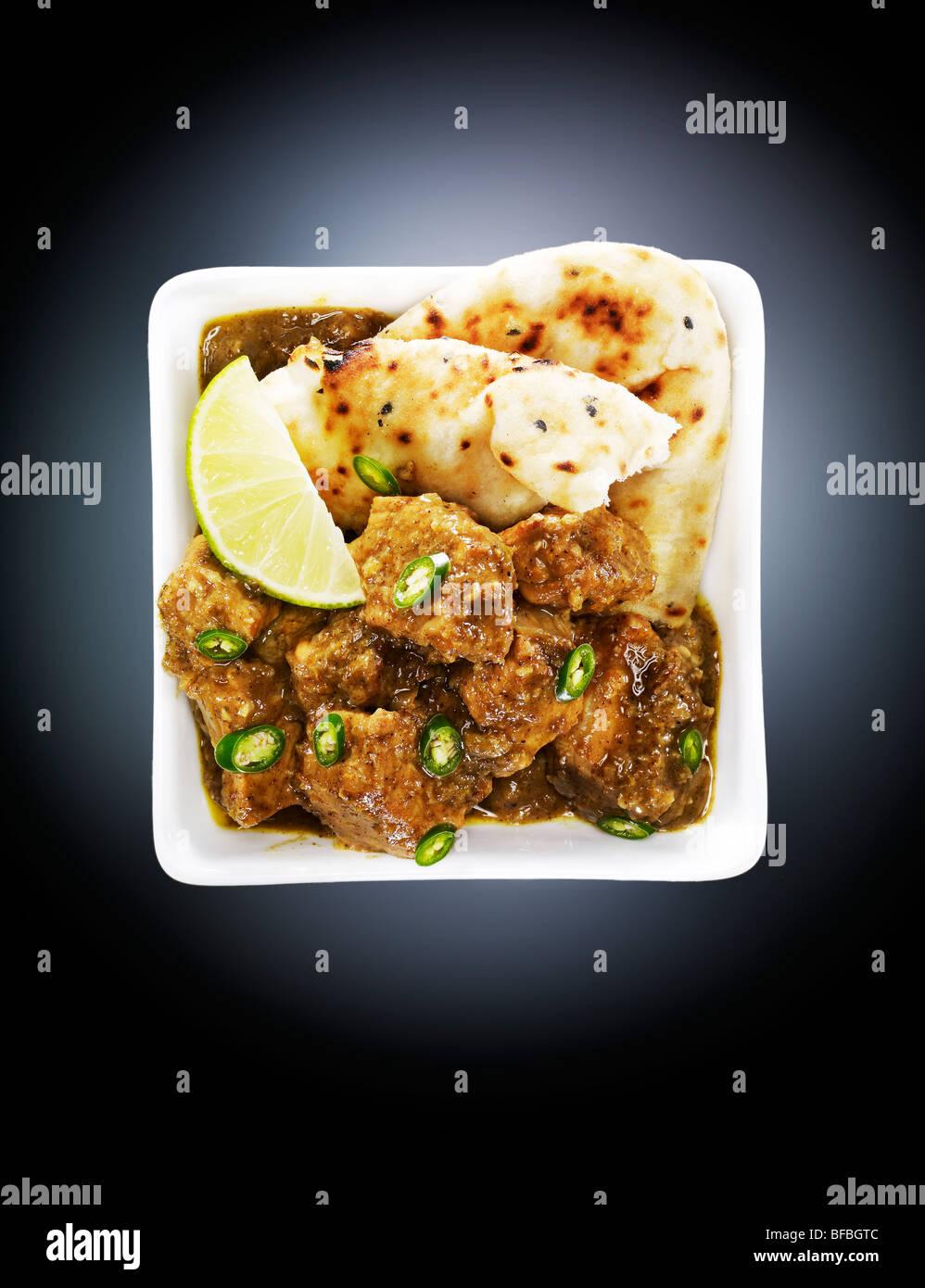 Curry de Boeuf, avec chill, poivre et cardamome. Photo Stock