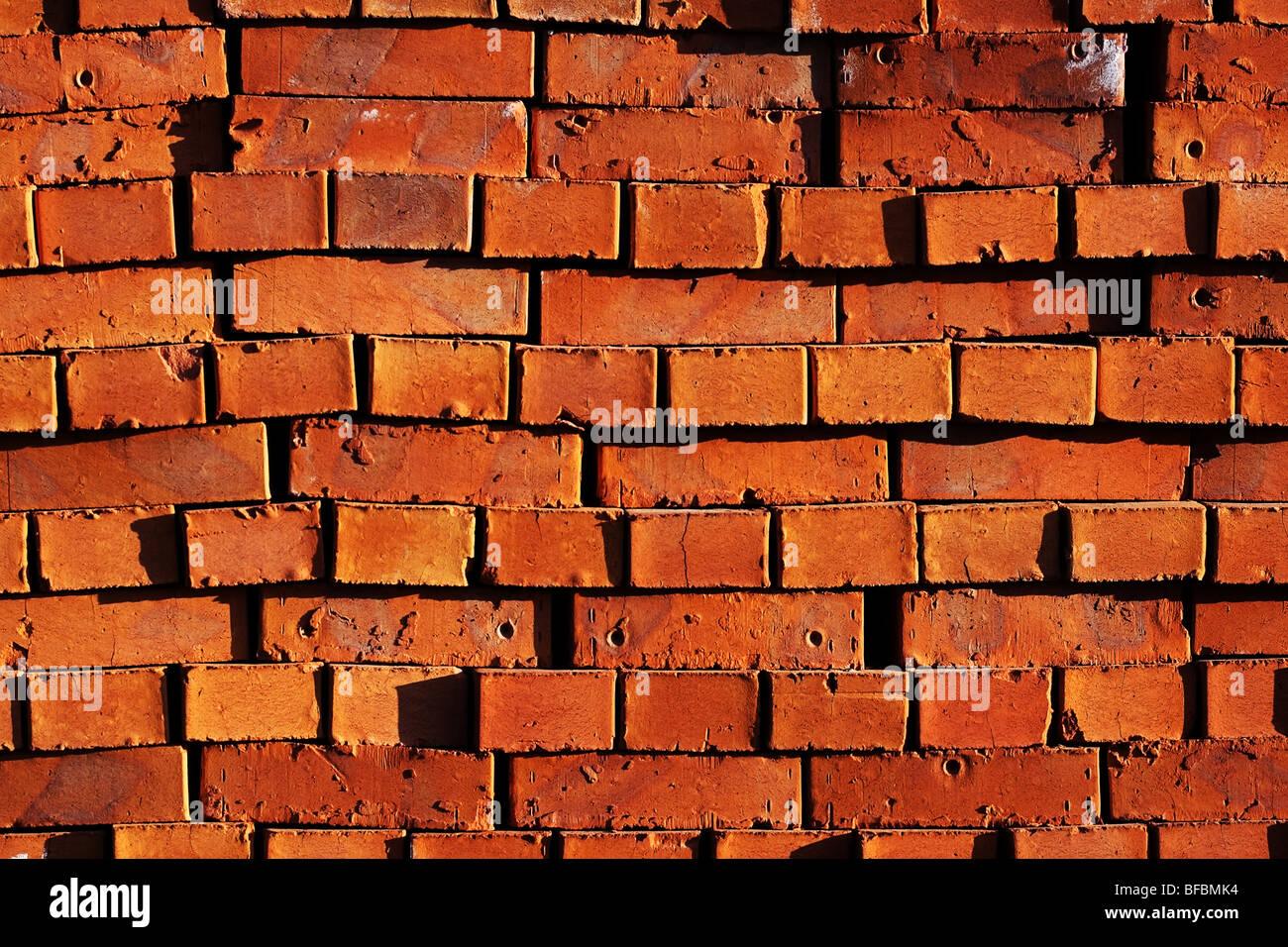 Des briques rouges arrière-plan. Photo Stock