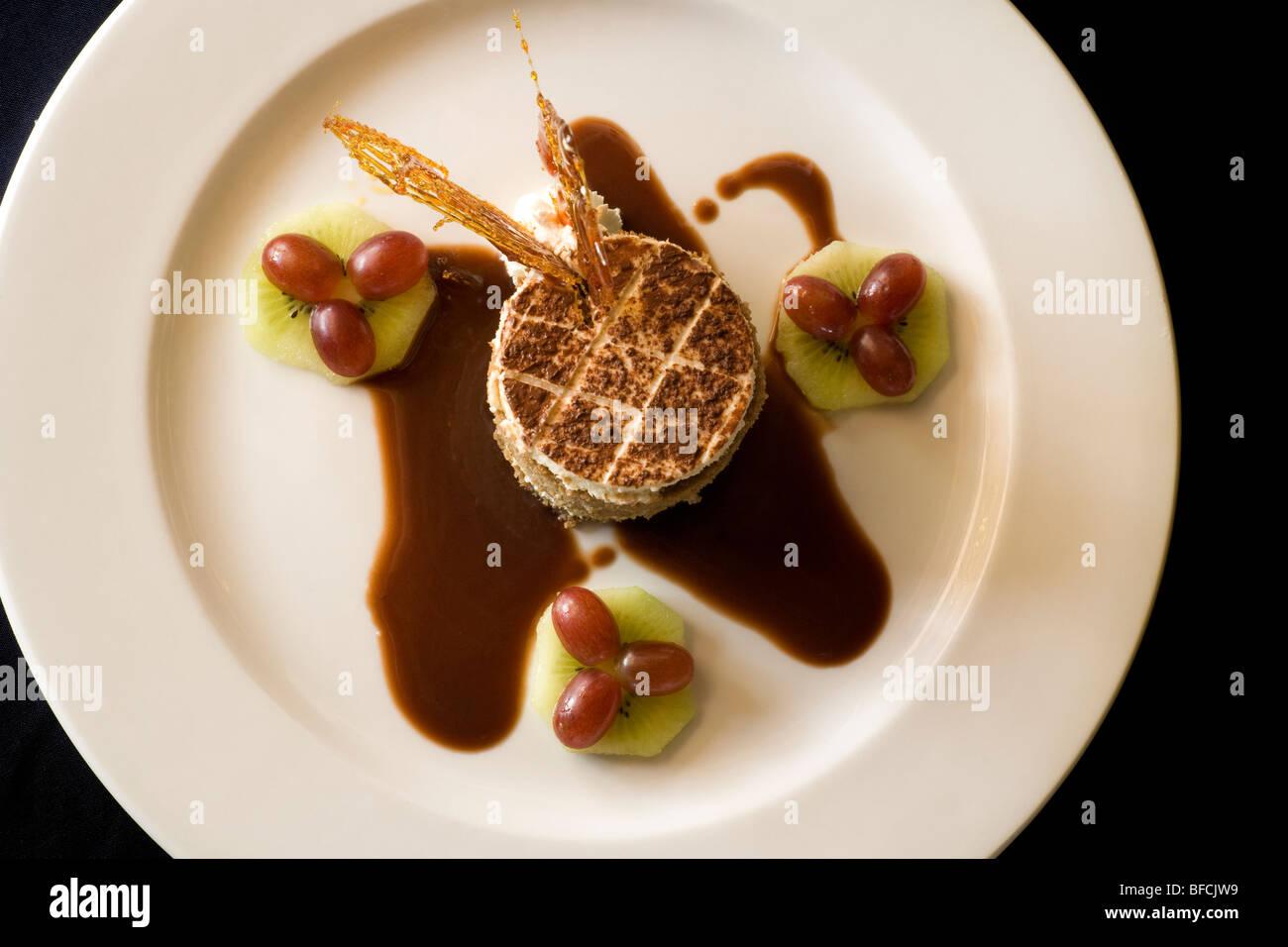 Tiramisu Dessert - Hemingways Resort - Watamu, Kenya Photo Stock