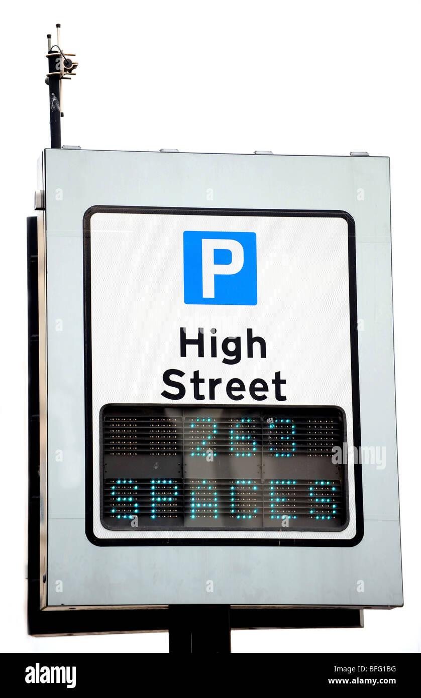 Generic high street parking sign Photo Stock