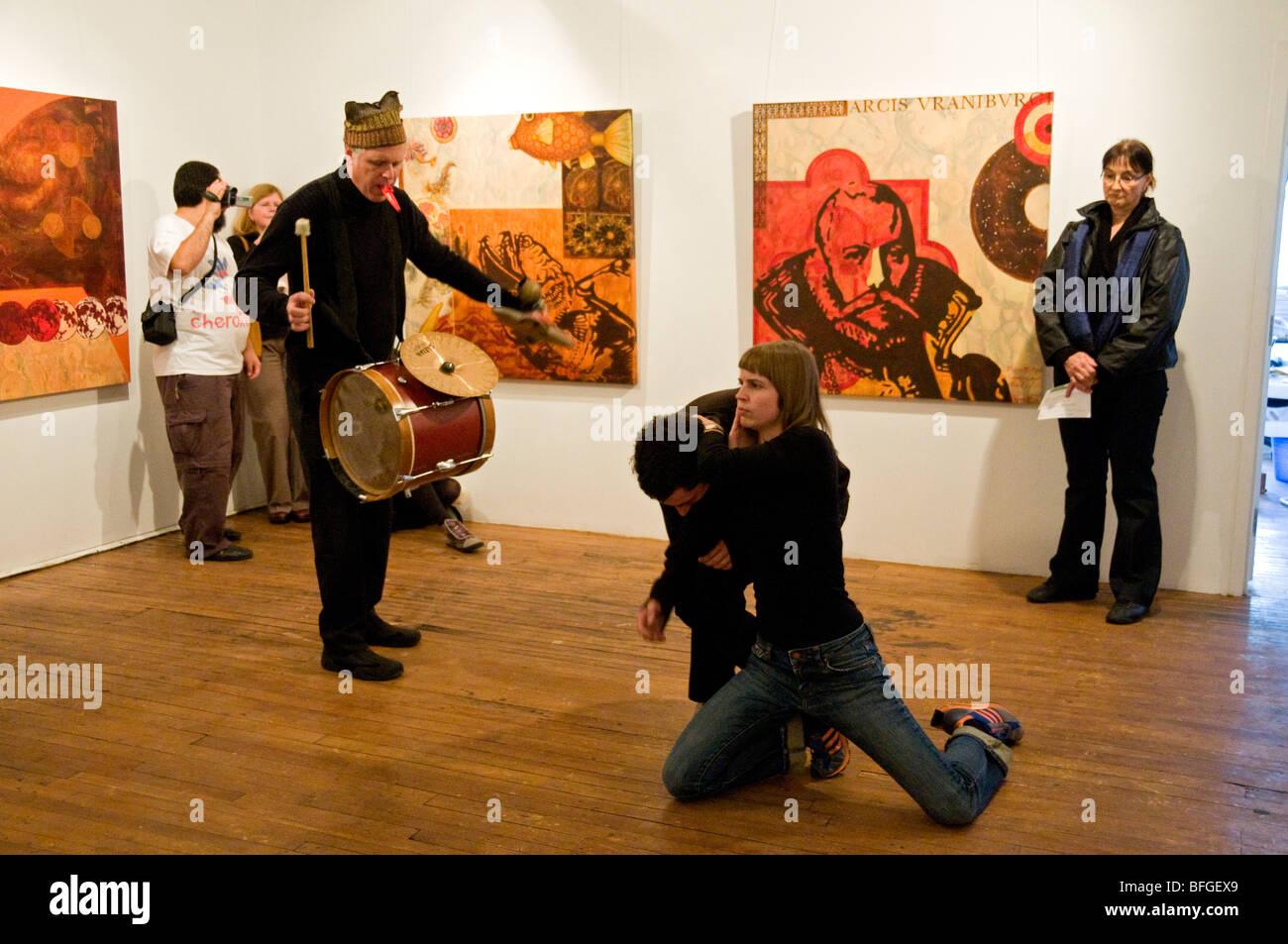 Show artistique dans une galerie d'art le centre-ville de Montréal Édifice Belgo Banque D'Images