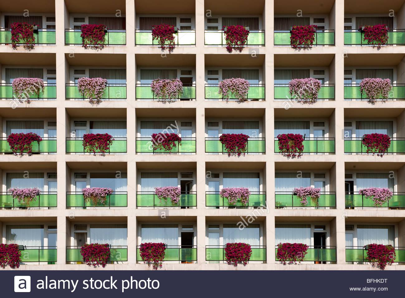 L'hôtel Aranyhomok ( architecture socialiste) , Kecskem t , Hongrie Photo Stock