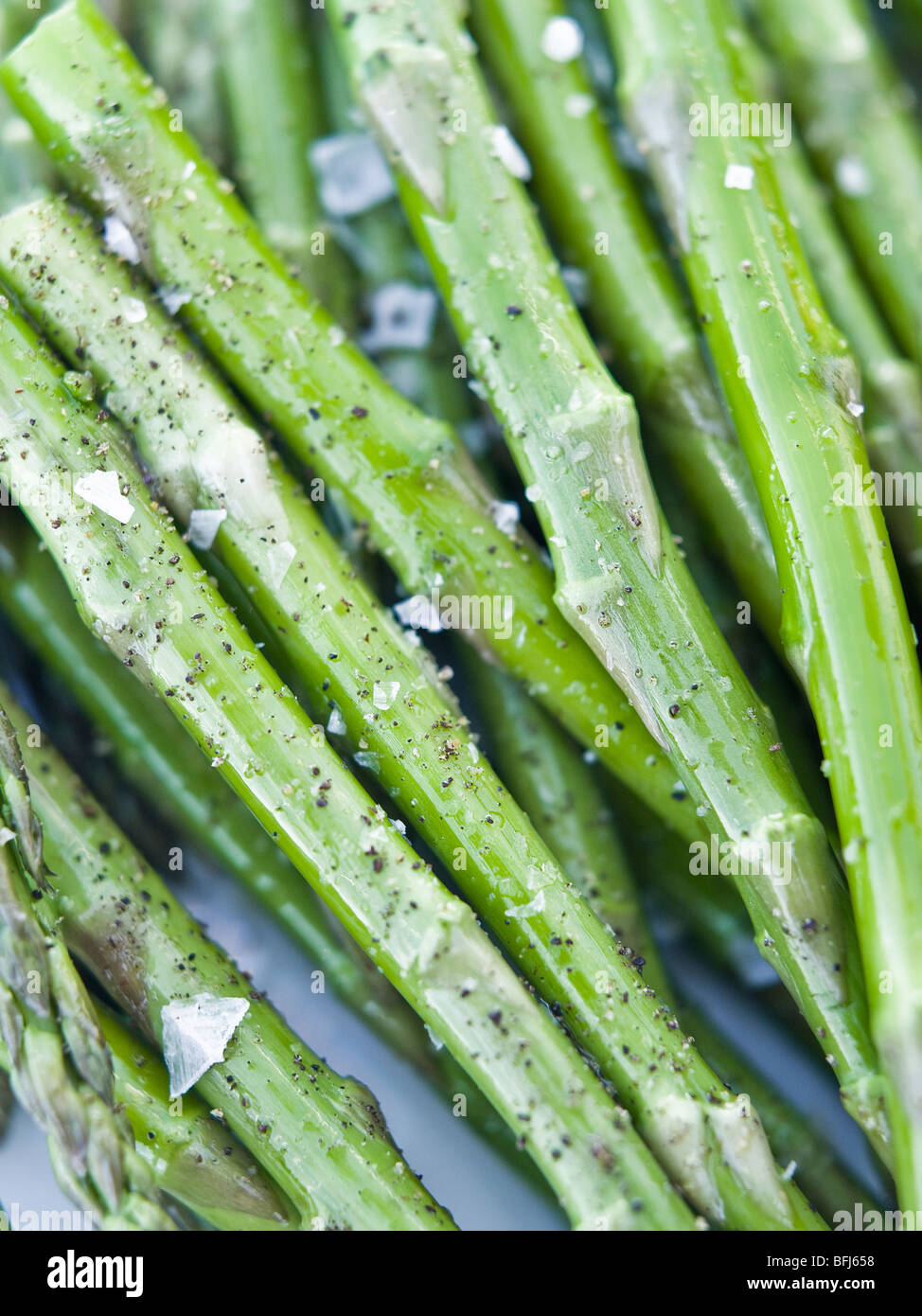 Les asperges, close-up, en Suède. Photo Stock