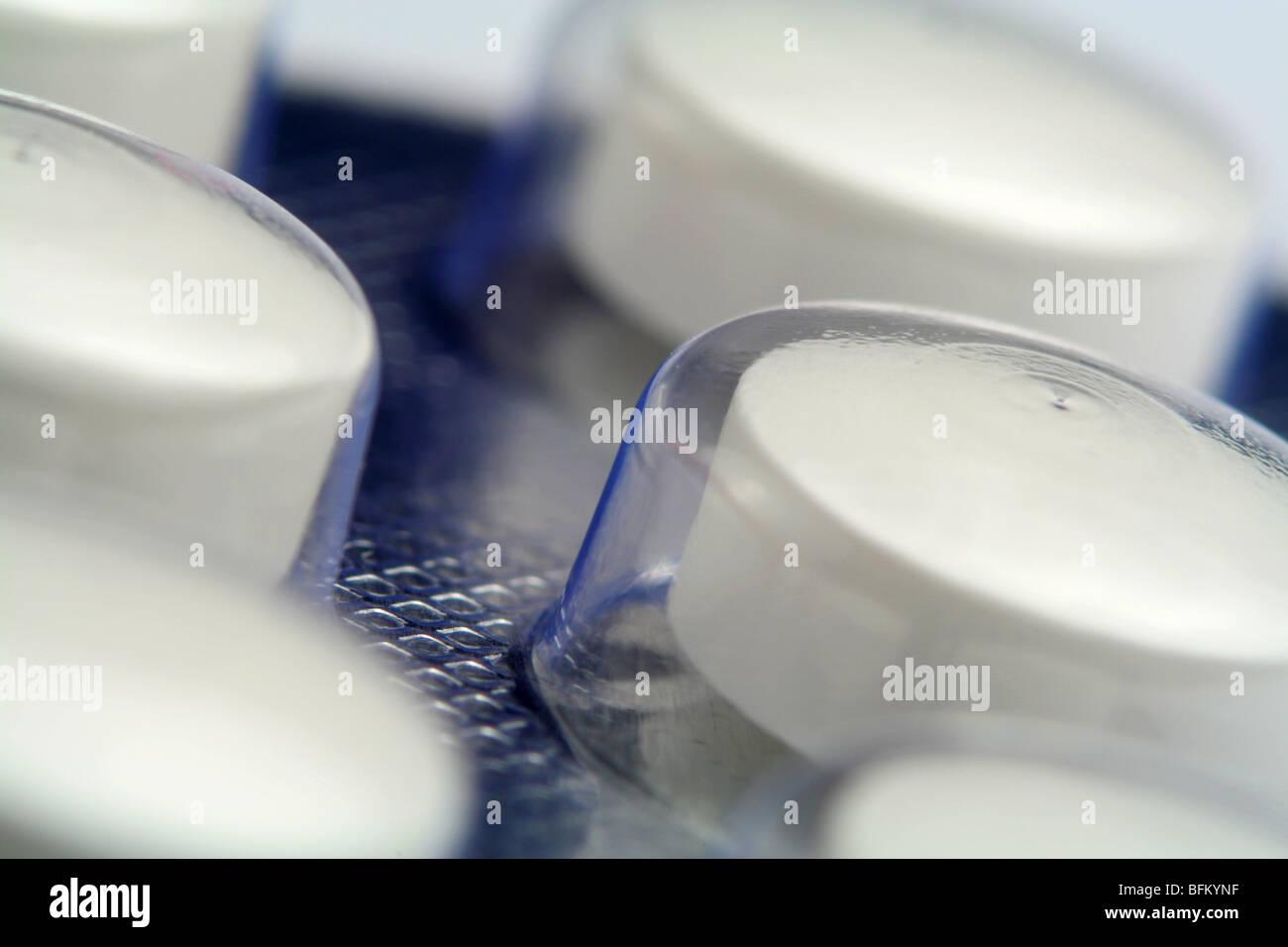 Blister de comprimés de diabète Photo Stock