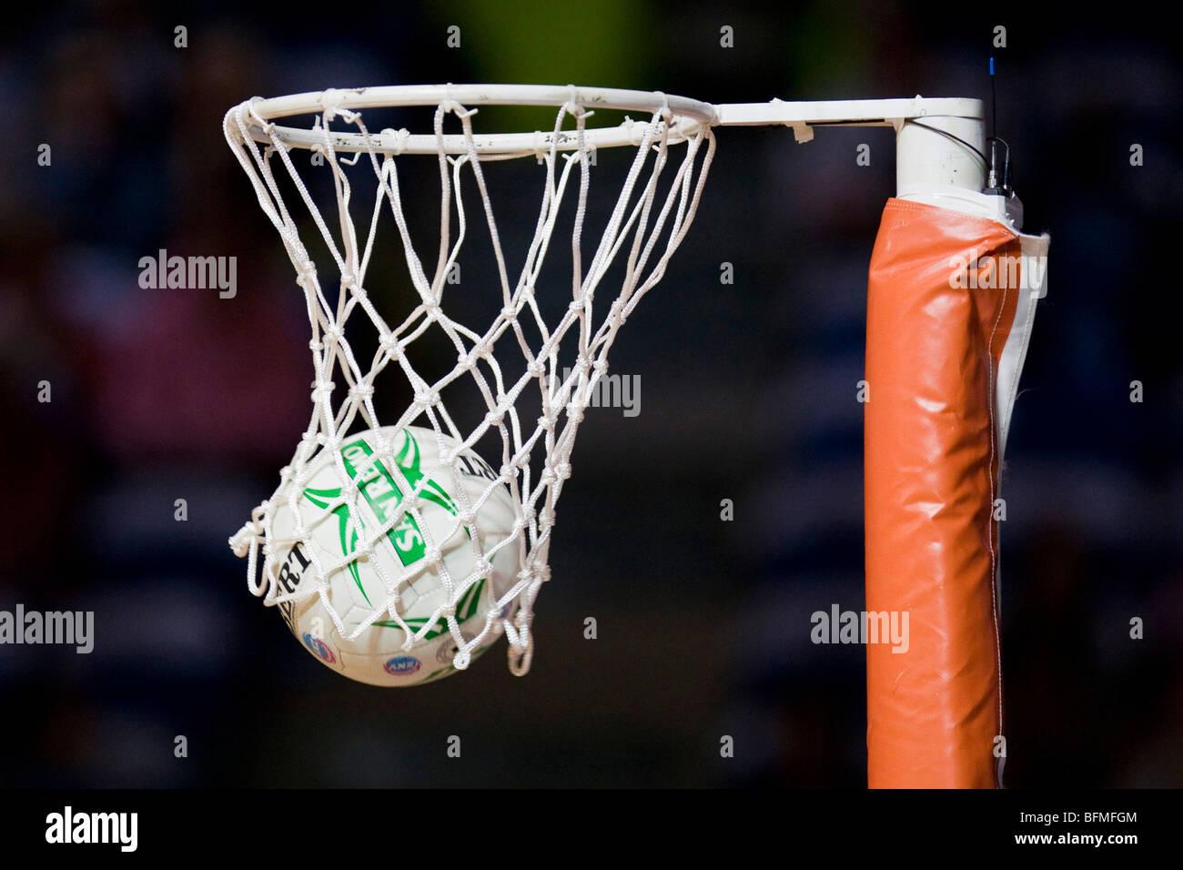 Netball au cerceau Photo Stock