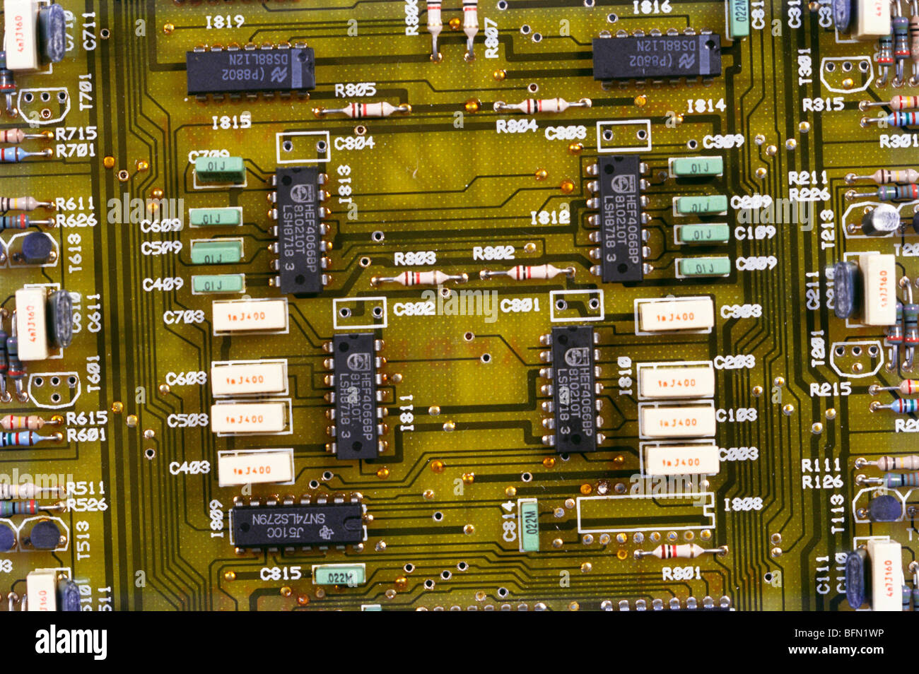 RJP 61272: PCB circuits électroniques imprimés; Inde Photo Stock