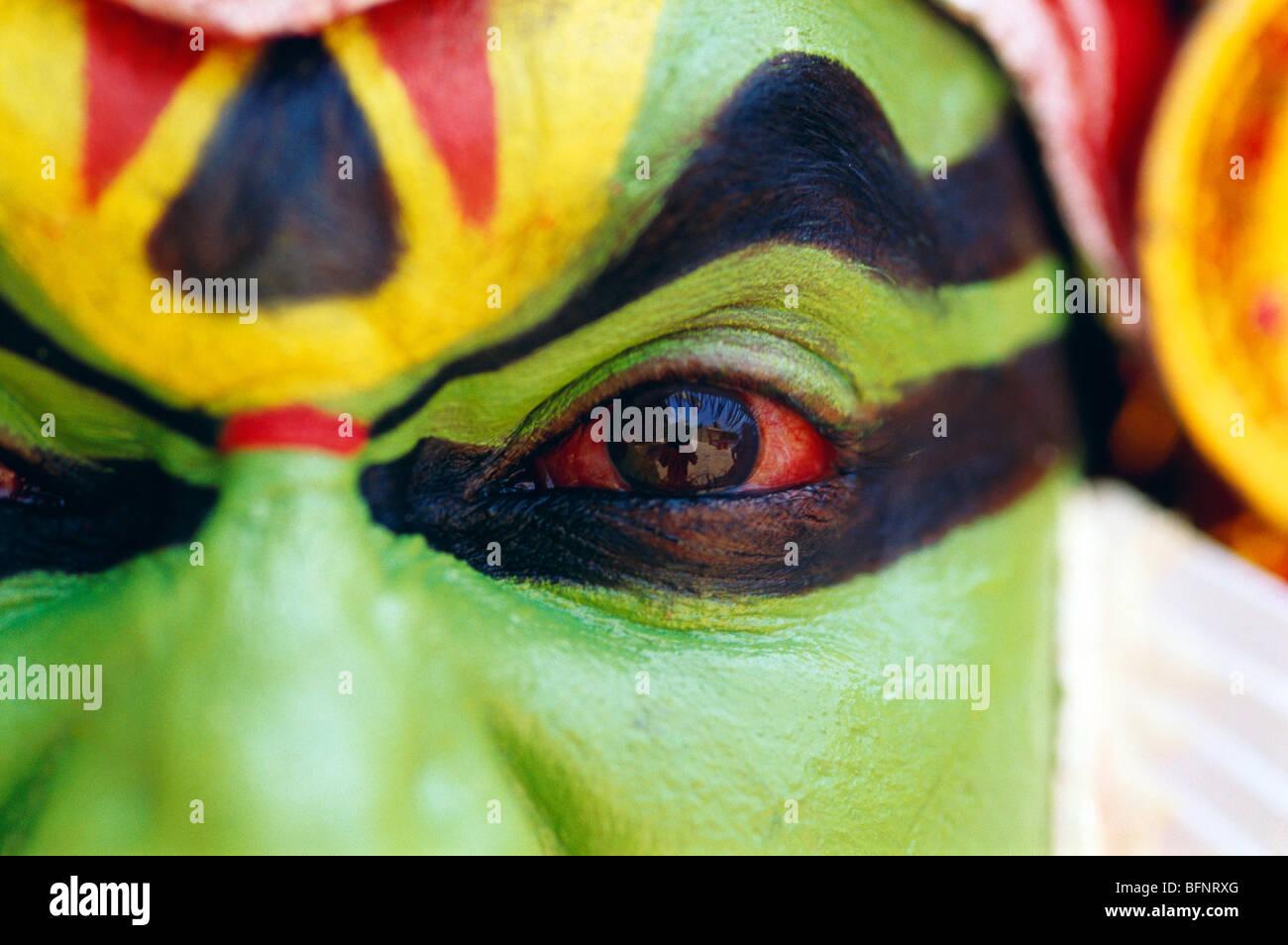 60564 RSC: danseuse de Kathakali Kerala; Inde; M.#306 Banque D'Images
