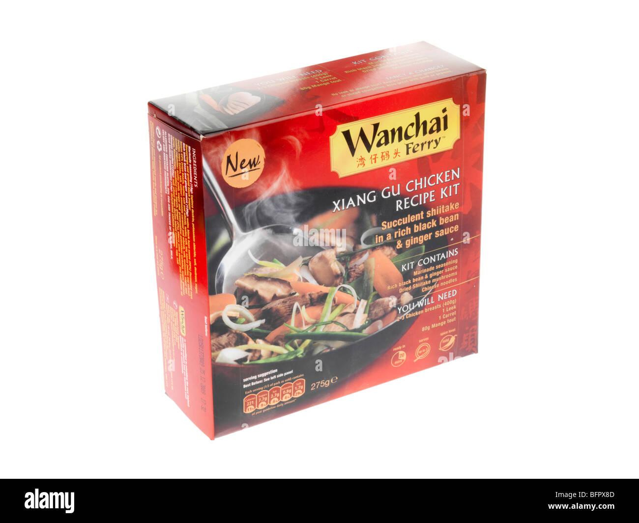 Kit Recette Poulet Gu Xiang Photo Stock