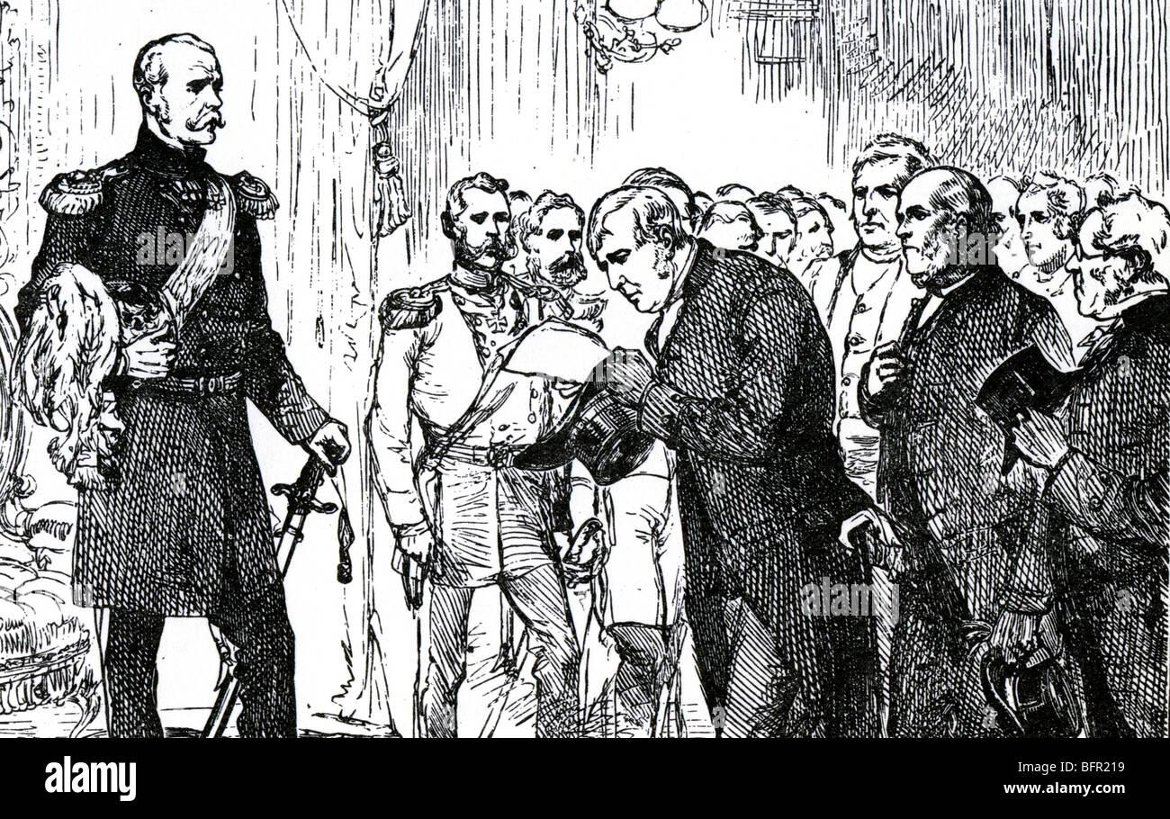 Les Quakers dirigés par Joseph Sturge présenter une pétition de la paix pour le Tsar Nicolas I à Photo Stock