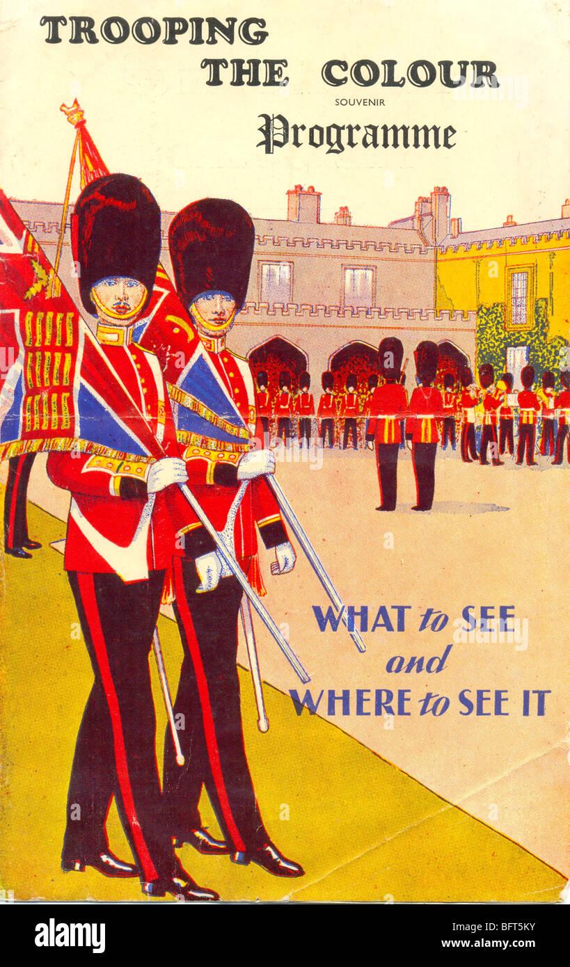 La parade du programme 1950 de couleur Photo Stock