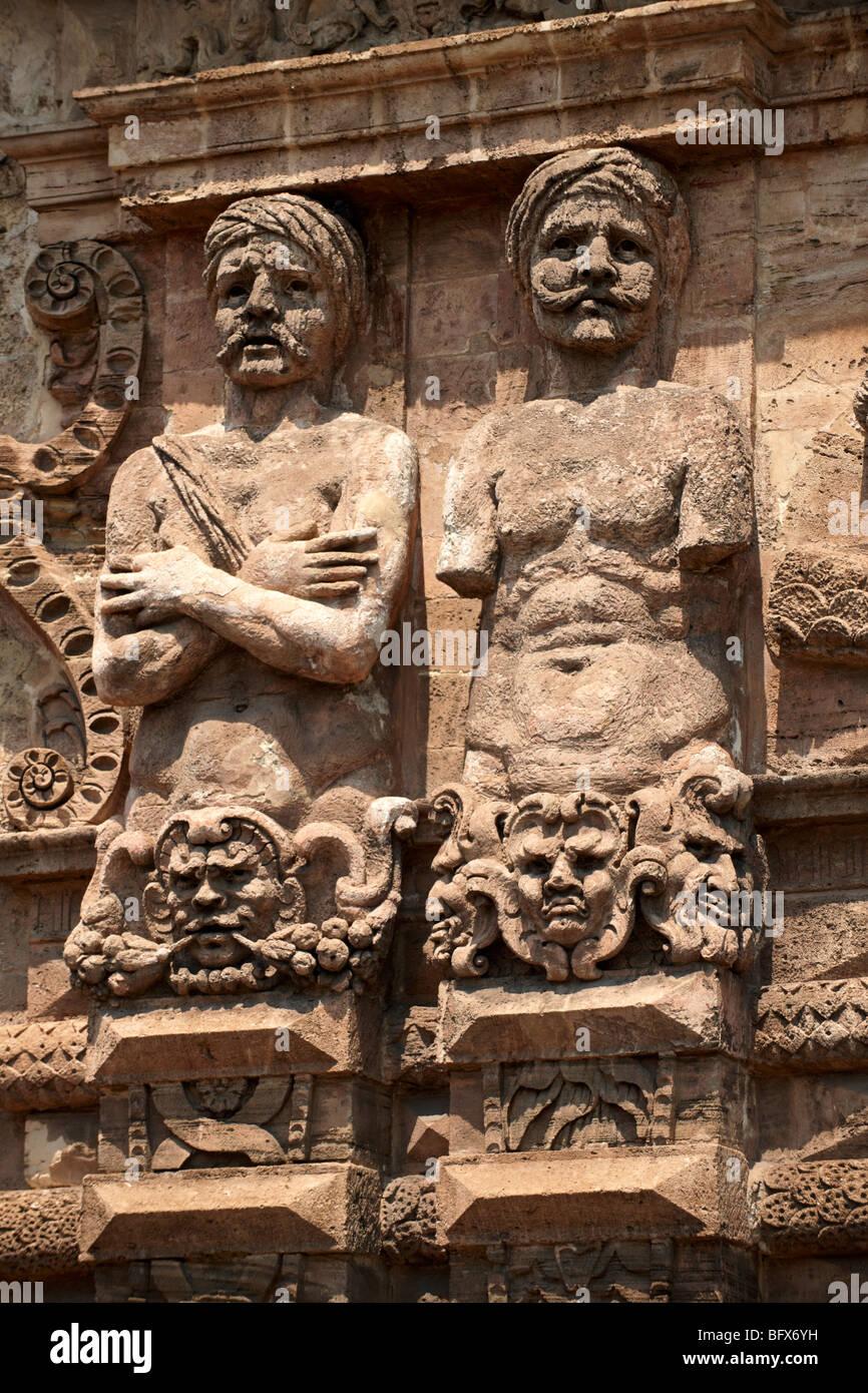 Sculptures baroques, la décoration architecturale, Palerme Sicile Photo Stock