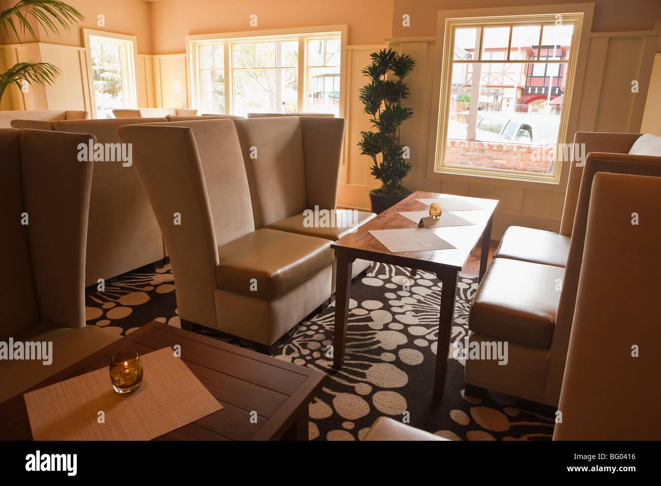 Lounge, restaurant 246 Racine, Solvang, Californie, États-Unis d'Amérique Photo Stock