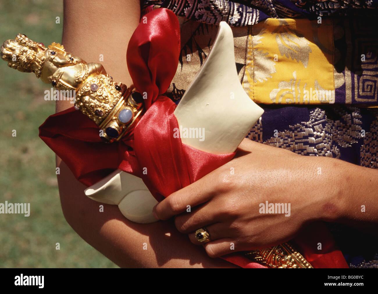 Kris (sabre de cérémonie) à Bali, en Indonésie, en Asie du Sud-Est, l'Asie Photo Stock