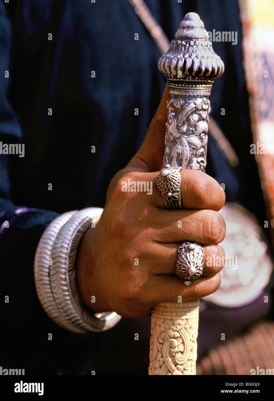 Épée style Lanna, dans le Nord de la Thaïlande, en Asie du Sud-Est, l'Asie Photo Stock