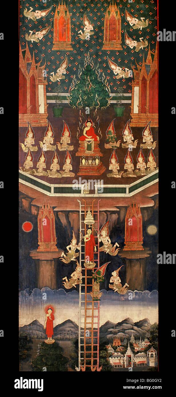 Faites défiler de descente du Bouddha du ciel, en Thaïlande, en Asie du Sud-Est, l'Asie Photo Stock
