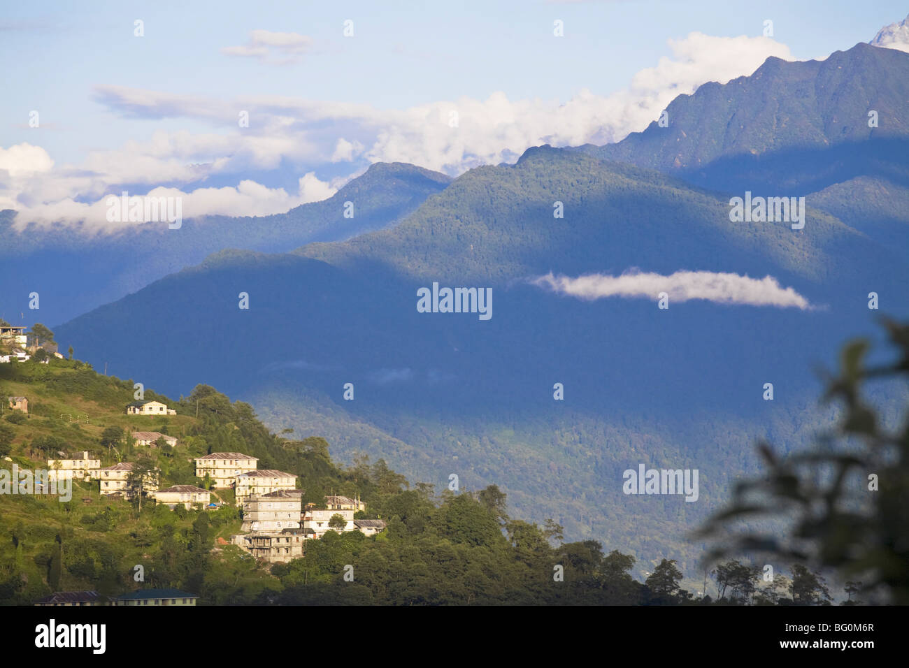 Vue du point de vue Tashi, Gangtok, Sikkim, Inde, Asie Photo Stock