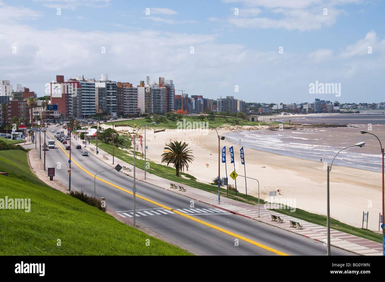 La Rambla, Montevideo, Uruguay, Amérique du Sud Photo Stock