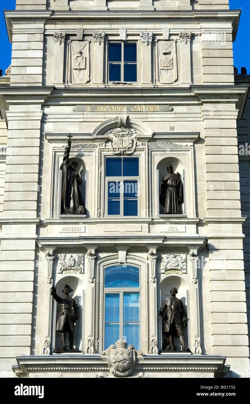 Détail de la tour de l'édifice du Parlement, à Québec, Canada Banque D'Images