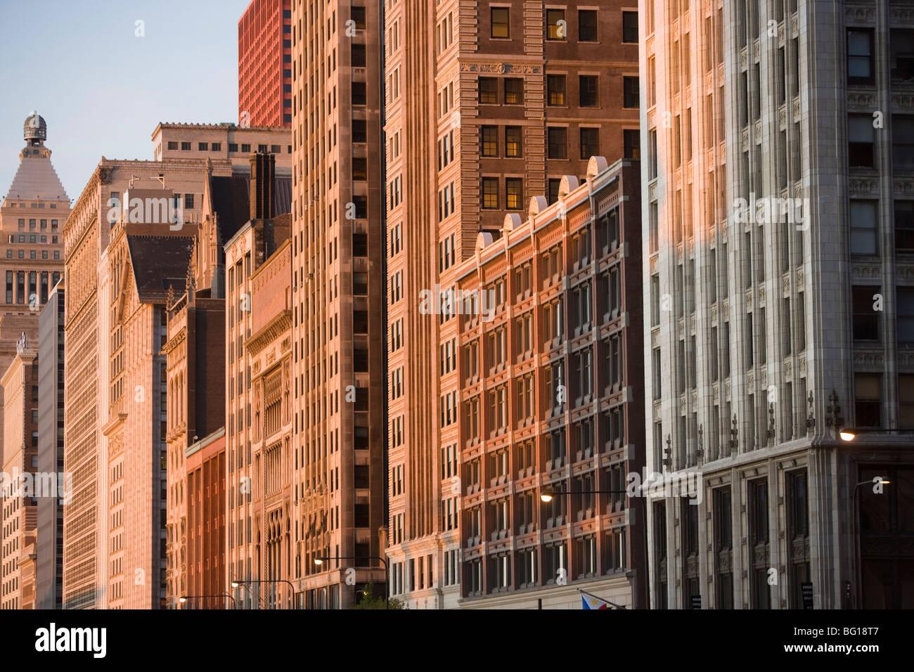 Michigan Avenue, Chicago, Illinois, États-Unis d'Amérique, Amérique du Nord Photo Stock
