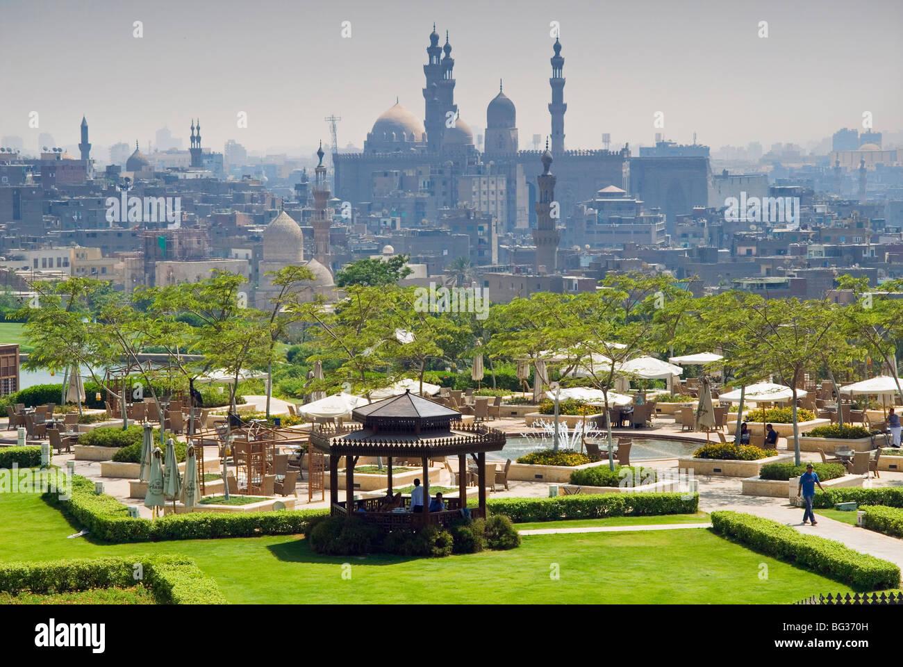 Al Azhar park et domaine de l'Islam, Le Caire, Egypte, Afrique du Nord, Afrique Photo Stock
