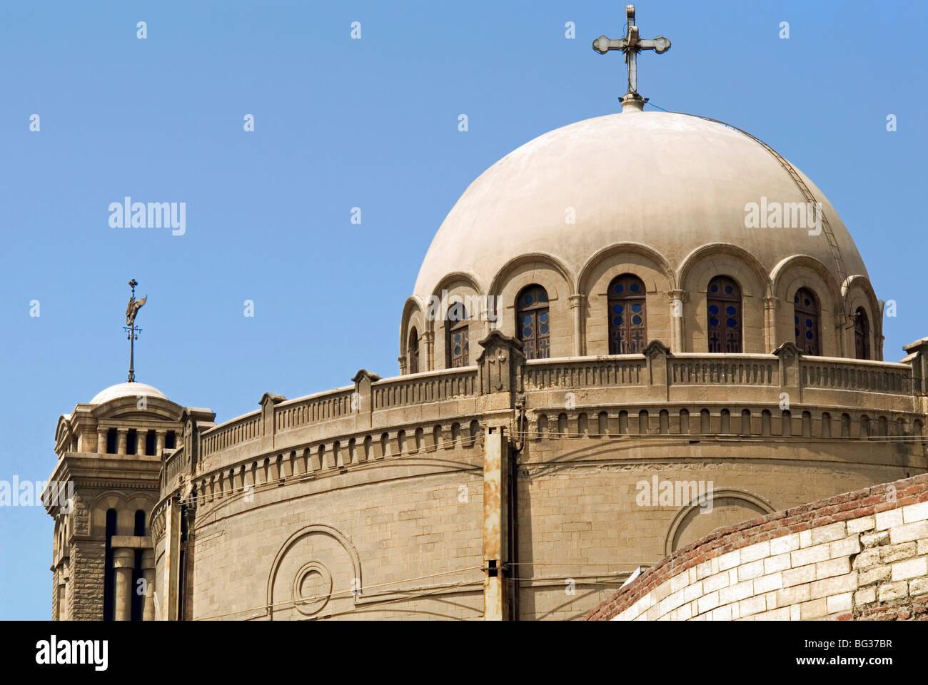 L'extérieur de l'église Saint Mari Gerges, copte du Caire, Le Caire, Egypte, Afrique du Nord, Photo Stock