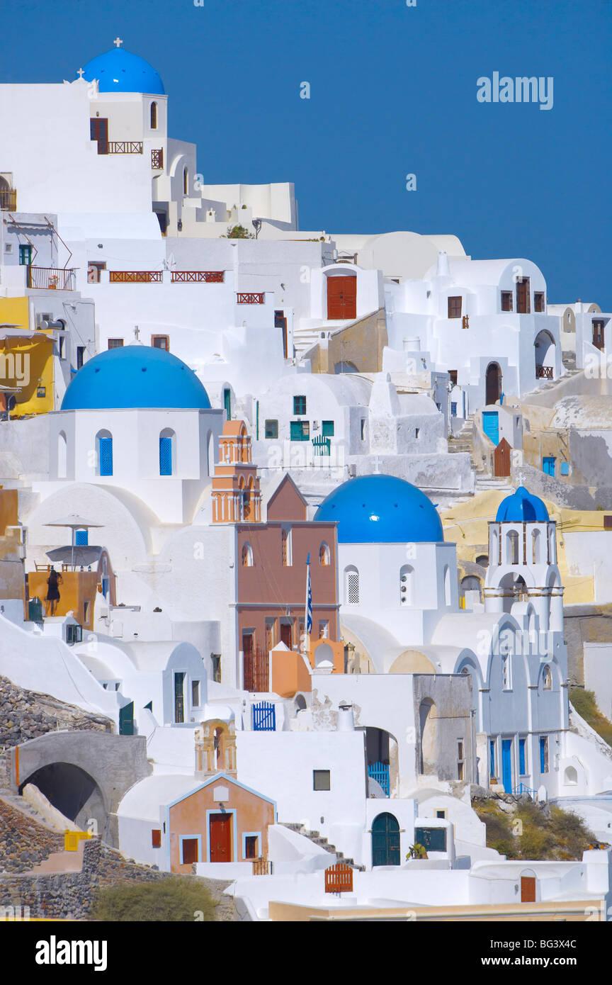 Oia, Santorini, Cyclades, îles grecques, Grèce, Europe Photo Stock