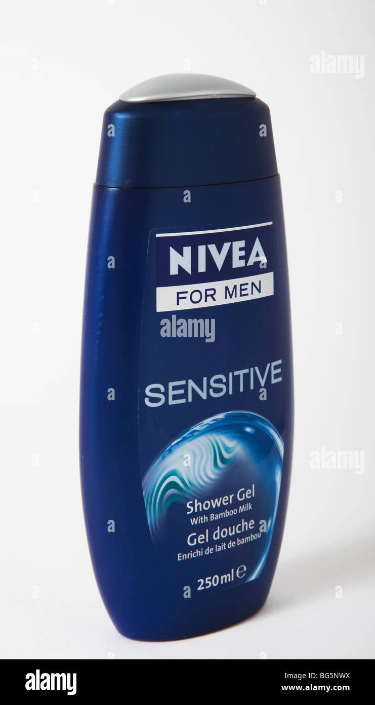 Gel nivea 'shower' hommes sensibles Photo Stock