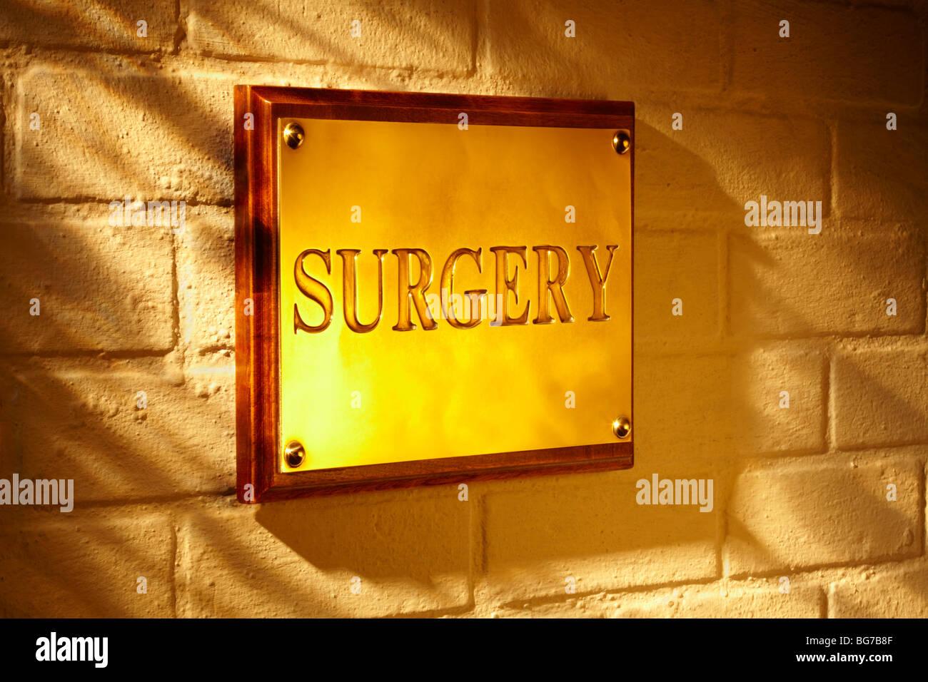Signe extérieur de la chirurgie Photo Stock