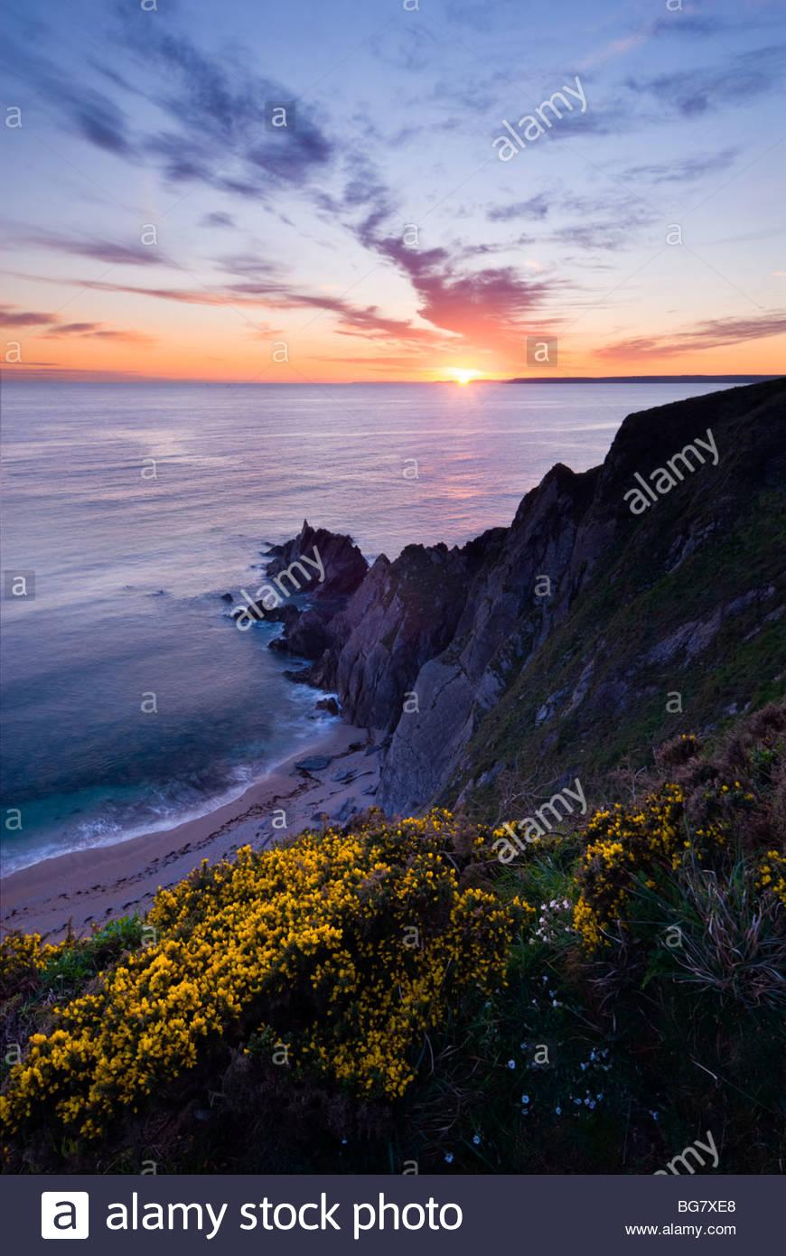 Beacon Point, près de Hope Cove, South Hams, Devon, Angleterre du Sud. Photo Stock