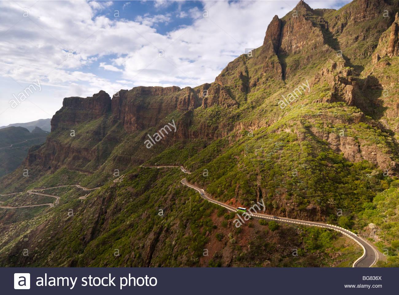 La route de Masca, Tenerife, Canaries, Espagne. Photo Stock