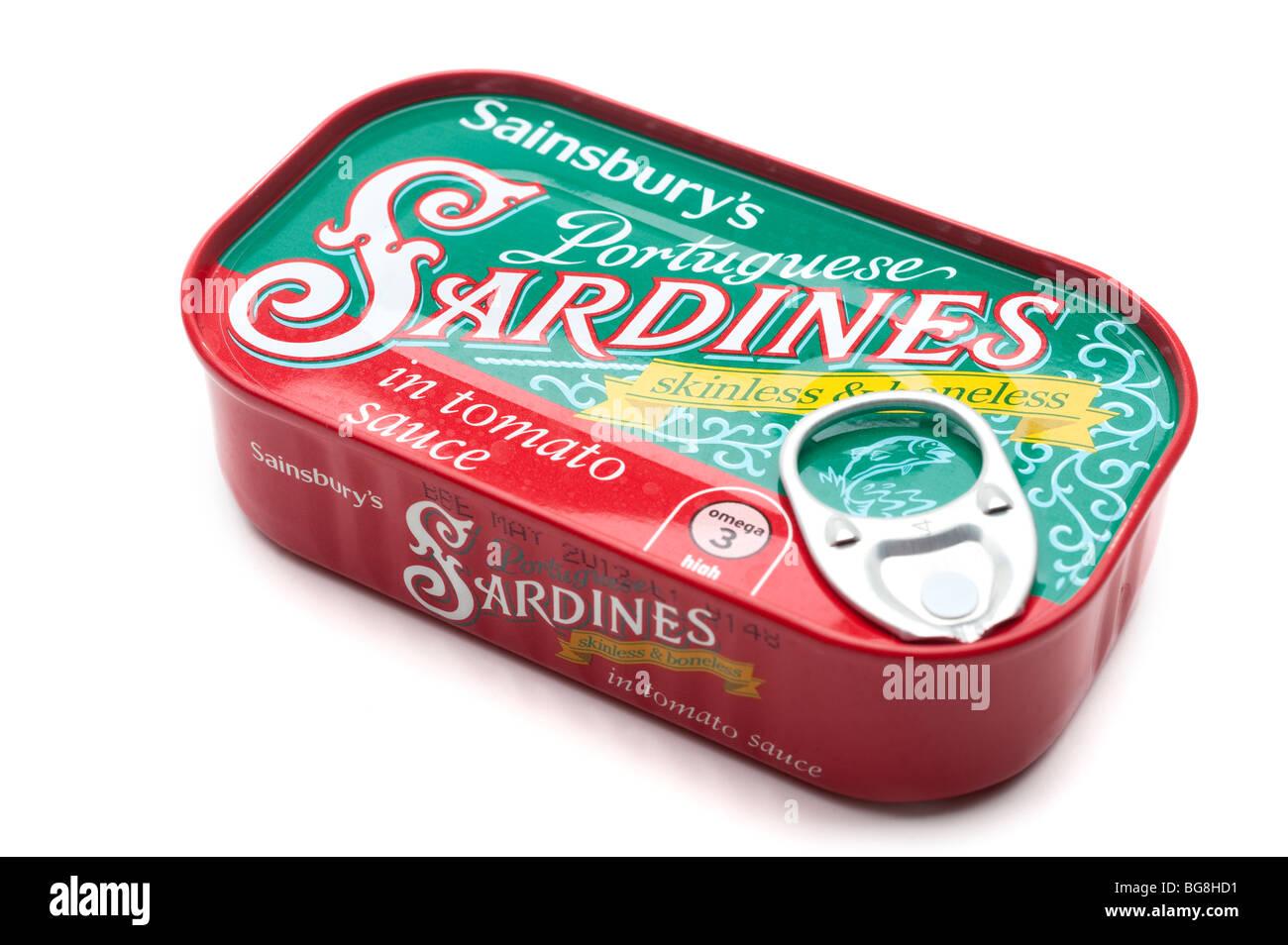 Boîte de sardines portugaises Sainsbury's Photo Stock