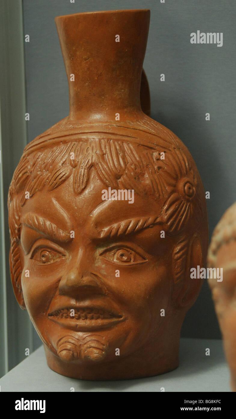 La mythologie grecque. Tête de satyre. Musée des beaux-arts de Budapest. La Hongrie. Photo Stock