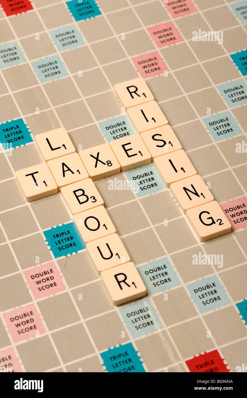 Conseil de Scrabble Photo Stock